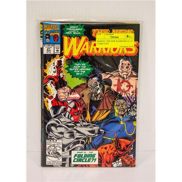 MARVEL THE NEW WARRIORS #21-25 COMICS SET