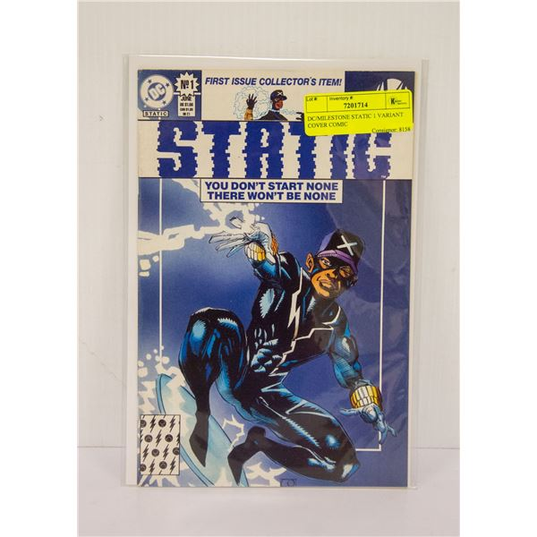 DC/MILESTONE STATIC 1 VARIANT COVER COMIC
