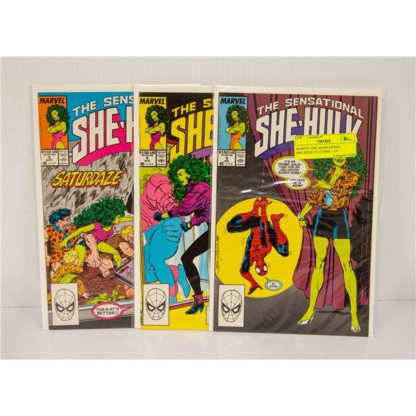 MARVEL THE SENSATIONAL SHE-HULK #3-5 COMIC LOT