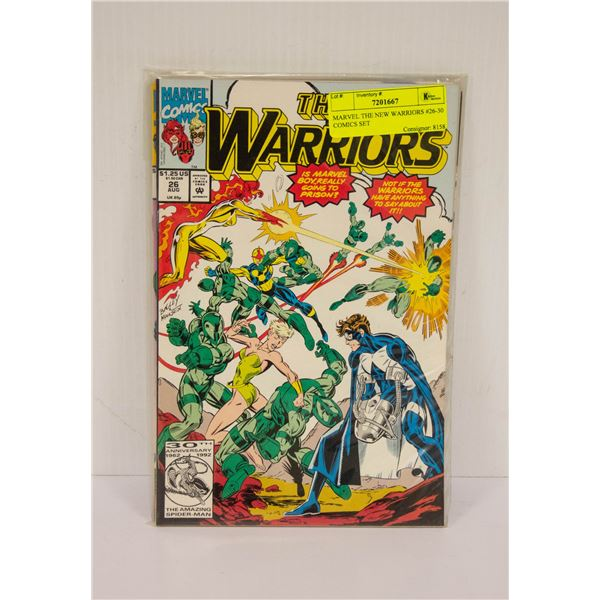 MARVEL THE NEW WARRIORS #26-30 COMICS SET