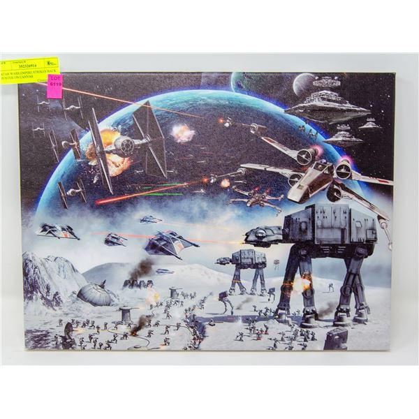 STAR WARS EMPIRE STRIKES BACK POSTER ON CANVAS