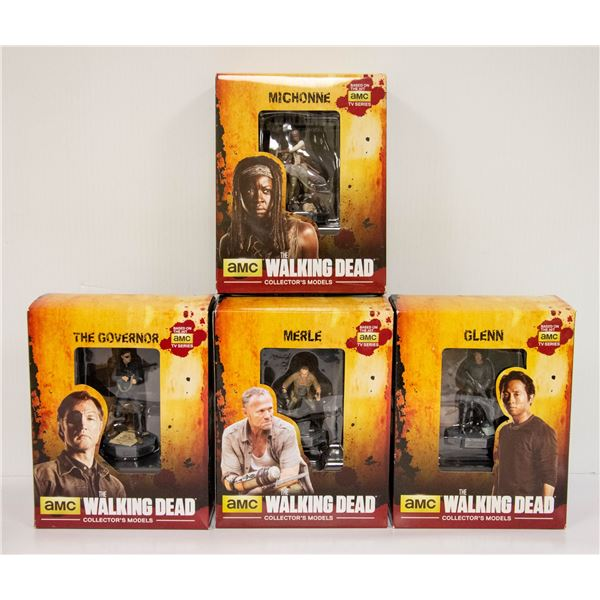 BOX OF COLLECTIBLE WALKING DEAD FIGURES