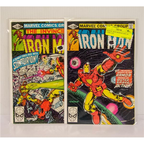 MARVEL IRON MAN#142 AND 143 COMIC LOT