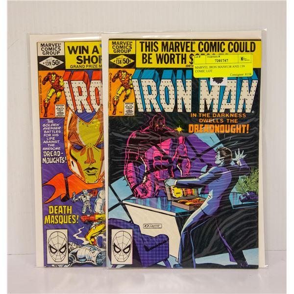 MARVEL IRON MAN#138 AND 139 COMIC LOT