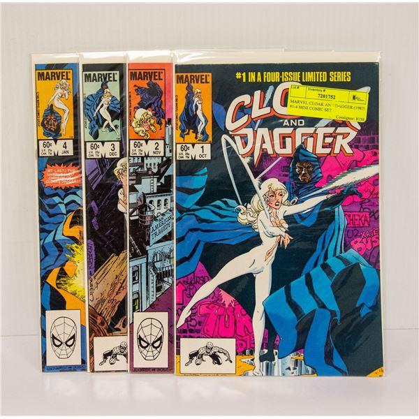 MARVEL CLOAK AND DAGGER (1983) #1-4 MINI COMIC SET