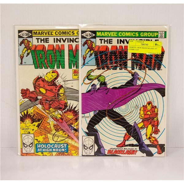 MARVEL IRON MAN#146 AND 147 COMIC LOT