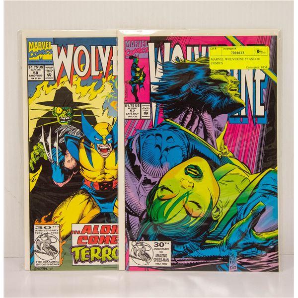 MARVEL WOLVERINE 57 AND 58 COMICS