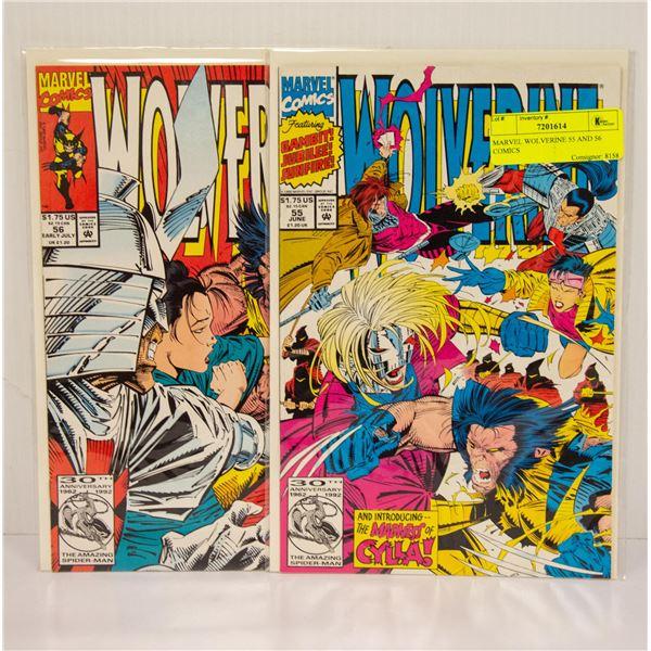 MARVEL WOLVERINE 55 AND 56 COMICS