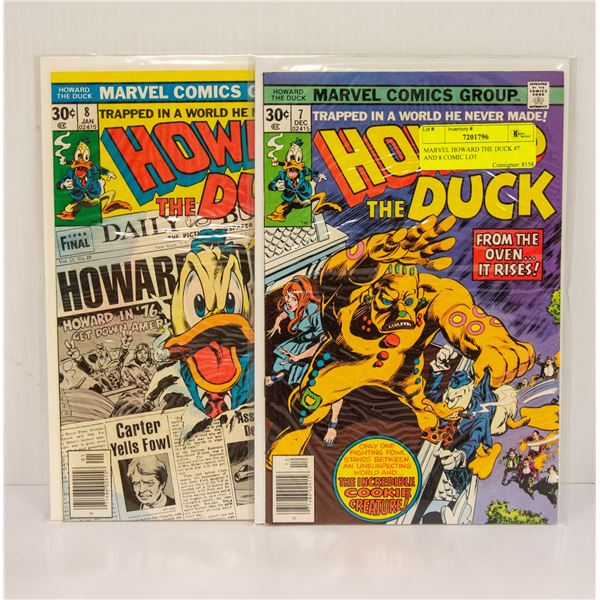 MARVEL HOWARD THE DUCK #7 AND 8 COMIC LOT