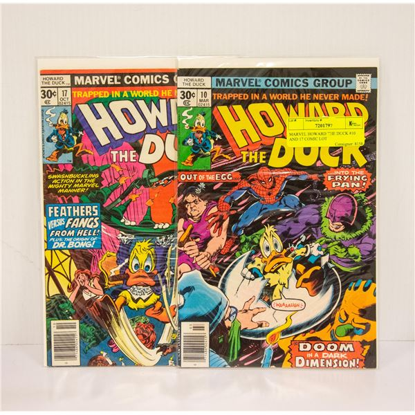 MARVEL HOWARD THE DUCK #10 AND 17 COMIC LOT