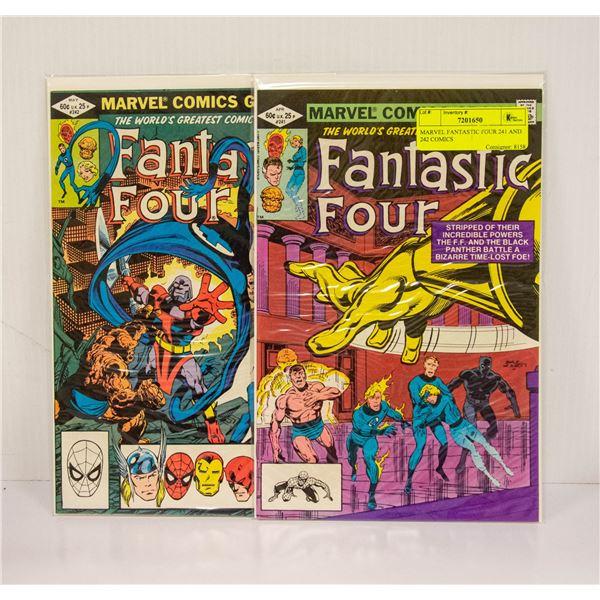 MARVEL FANTASTIC FOUR 241 AND 242 COMICS