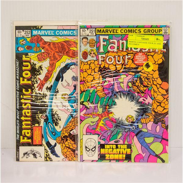 MARVEL FANTASTIC FOUR 251 AND 252 COMICS