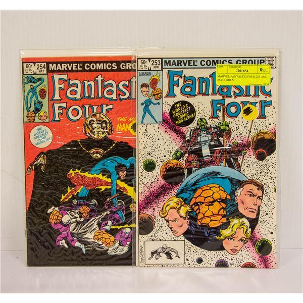 MARVEL FANTASTIC FOUR 253 AND 254 COMICS