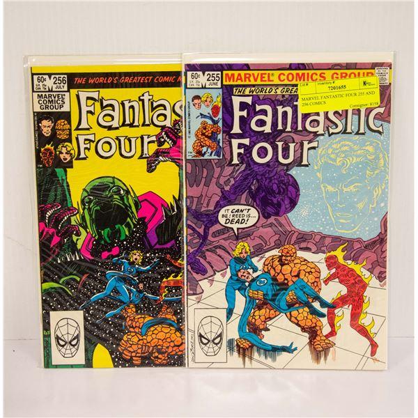 MARVEL FANTASTIC FOUR 255 AND 256 COMICS