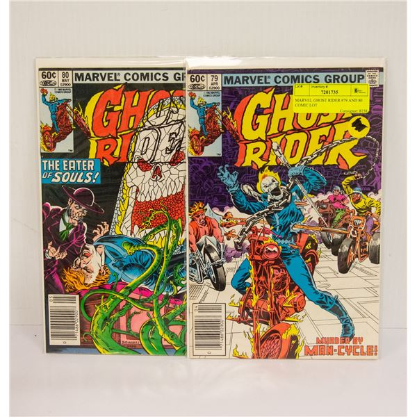 MARVEL GHOST RIDER #79 AND 80 COMIC LOT