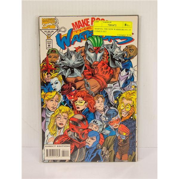 MARVEL THE NEW WARRIORS #51-55 COMICS SET