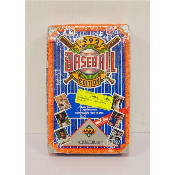SEALED BOX BASEBALL UPPER DECK 1992