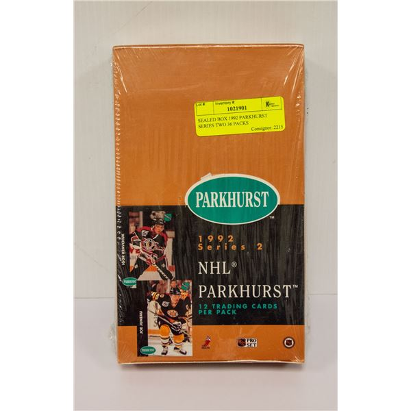 SEALED BOX 1992 PARKHURST SERIES TWO 36 PACKS