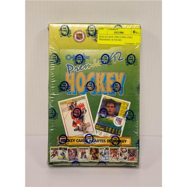 SEALED BOX 1992 O-PEE-CHEE PREMIERE 36 PACKS