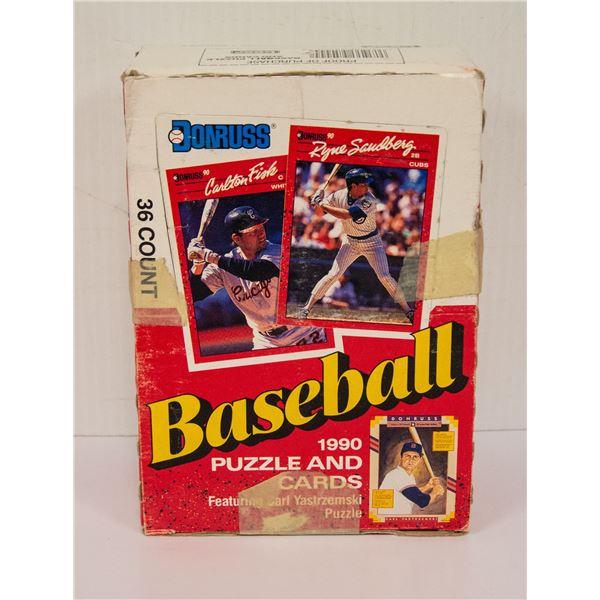 SEALED BOX 1990 DONRUSS BASEBALL 36 PACKS