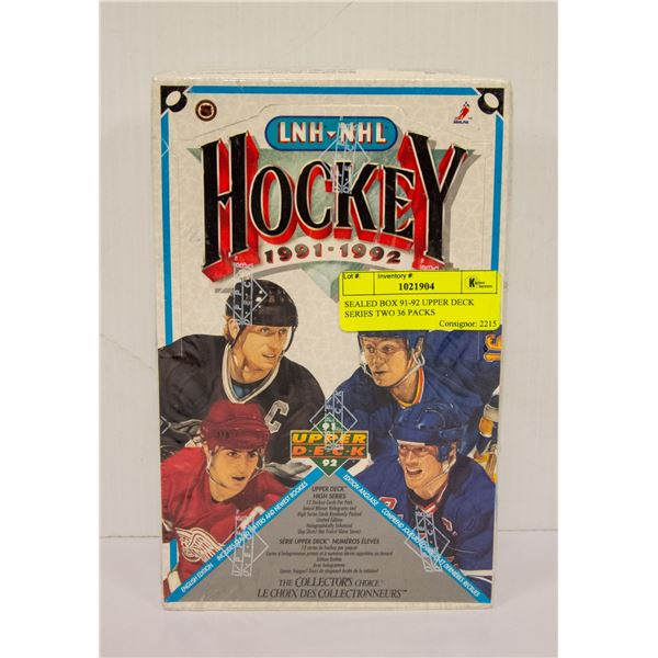 SEALED BOX 91-92 UPPER DECK SERIES TWO 36 PACKS