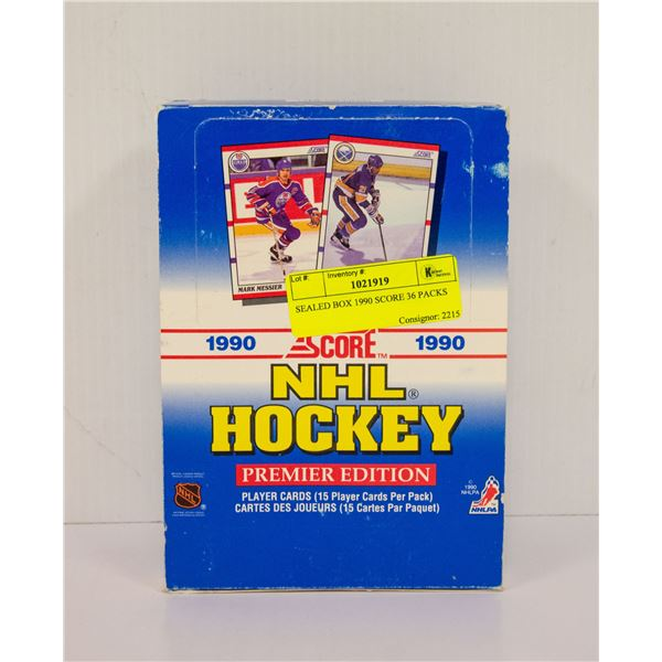 SEALED BOX 1990 SCORE 36 PACKS