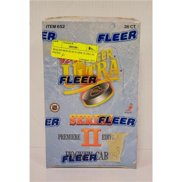 SEALED BOX 92-93 FLEER ULTRA 36 PACKS
