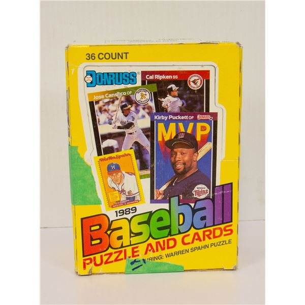 WAX BOX 34 PACKS 1989 DONRUSS BASEBALL