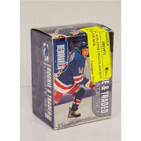 1999 BE A PLAYER UPDATE HOCKEY SET BLUE BOX