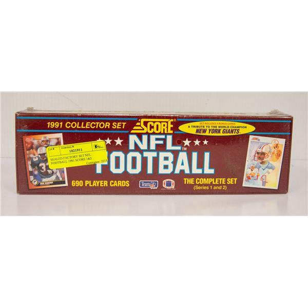 SEALED FACTORY SET NFL FOOTBALL 1991 SCORE 1&2