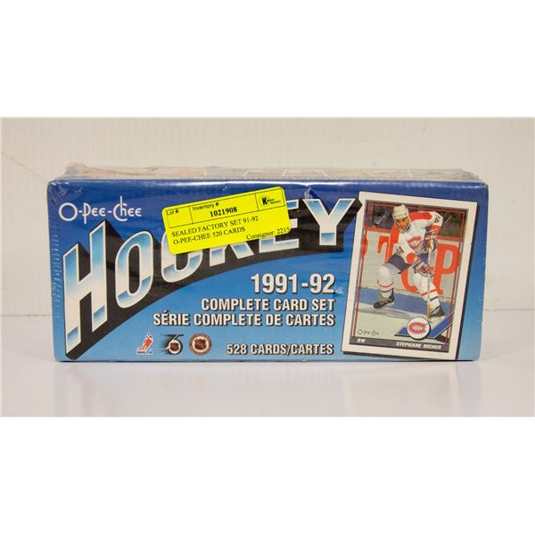 SEALED FACTORY SET 91-92 O-PEE-CHEE 520 CARDS