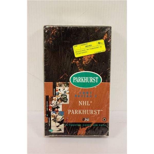 SEALED BOX 1991 PARKHURST 36 PACKS SERIES 1
