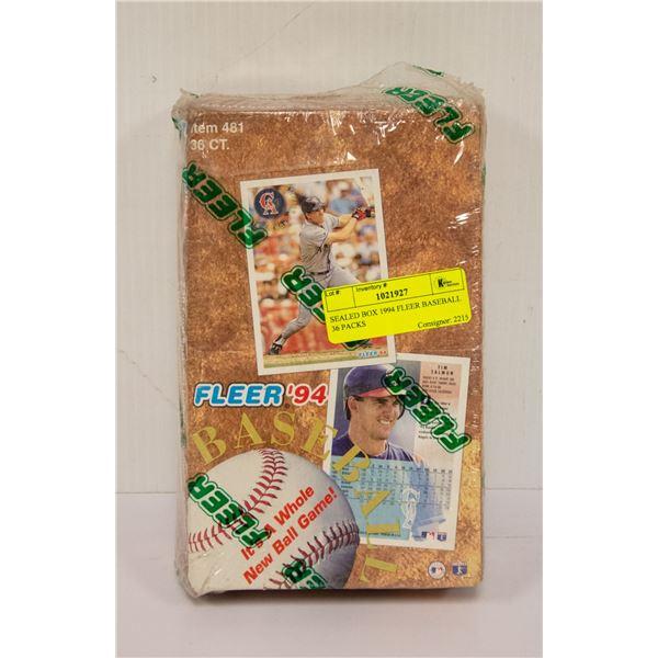 SEALED BOX 1994 FLEER BASEBALL 36 PACKS