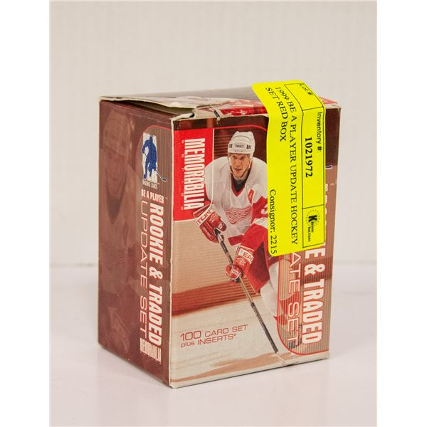 1999 BE A PLAYER UPDATE HOCKEY SET RED BOX