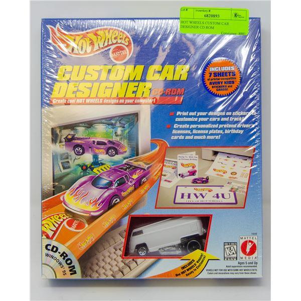 HOT WHEELS CUSTOM CAR DESIGNER CD ROM