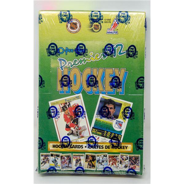 1992 PREMIERE OPC WAX BOX HOCKEY 36 PACKS