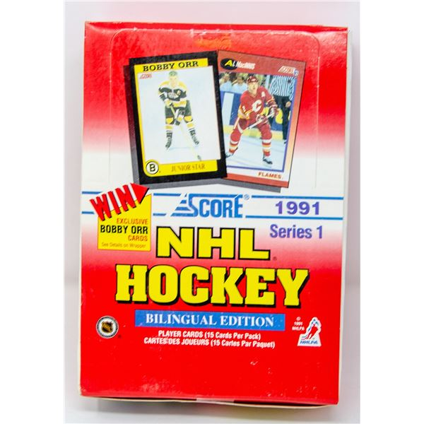 1991 SCORE WAX BOX 36 PACKS FIND THE ORR CARDS