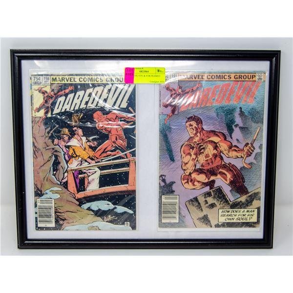 DAREDEVIL #191 & #198 FRAMED COMICS
