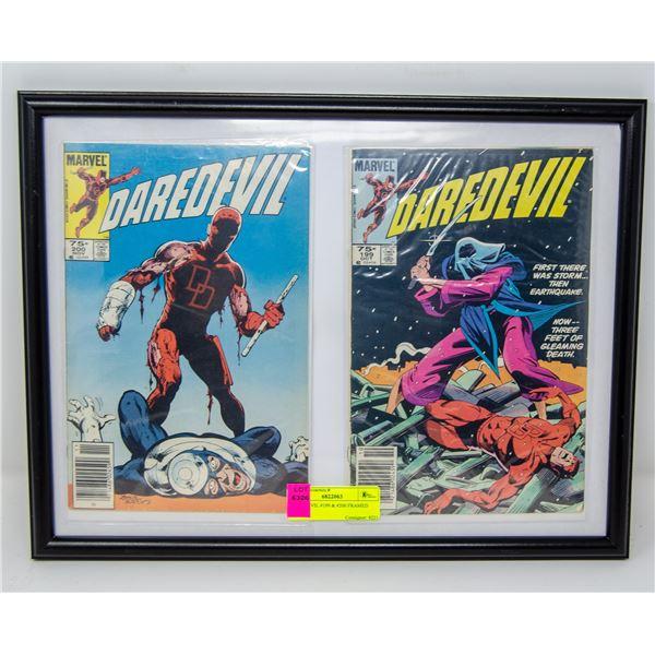 DAREDEVIL #199 & #200 FRAMED COMICS