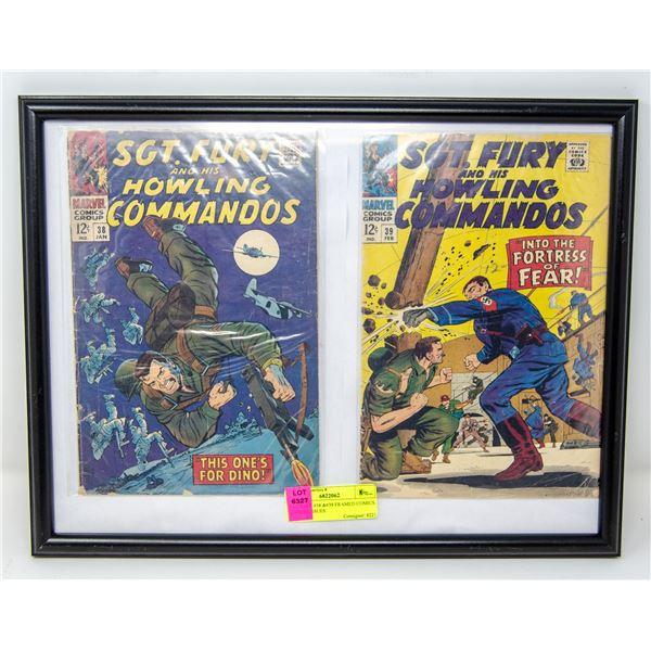 SGT FURY #38 &#39 FRAMED COMICS 12 CENT ISSUES