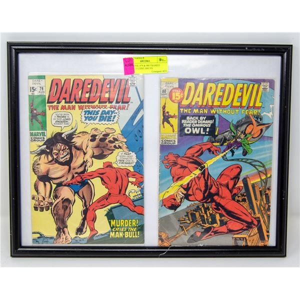 DAREDEVIL #79 & #80 FRAMED COMICS 15 CENT ISSUES