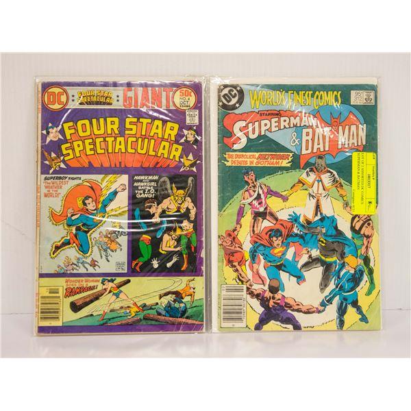 LOT OF 2 ASSORTED DC COMICS SUPERMAN & BATMAN