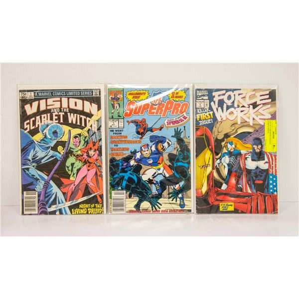LOT OF 3 ASSORTED MARVEL COMICS VISION