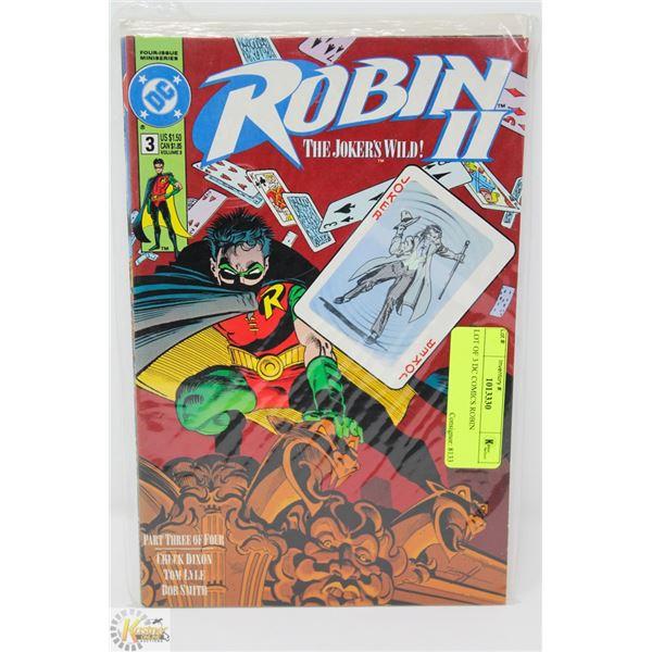 LOT OF 3 DC COMICS ROBIN
