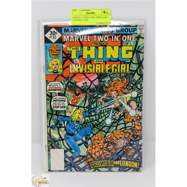 MARVEL COMICS THE THING AND INVISIBLE GIRL