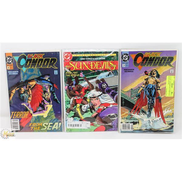 LOT OF 7 ASSORTED DC COMICS SUN DEVILS, BLACK
