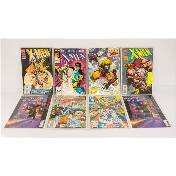 LOT OF 8 ASSORTED MARVEL COMICS X-MEN