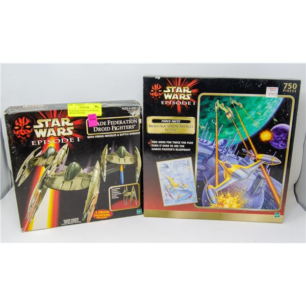 STAR WARS PUZZLE AND EPISODE 1 DROIDS FIGHTERS