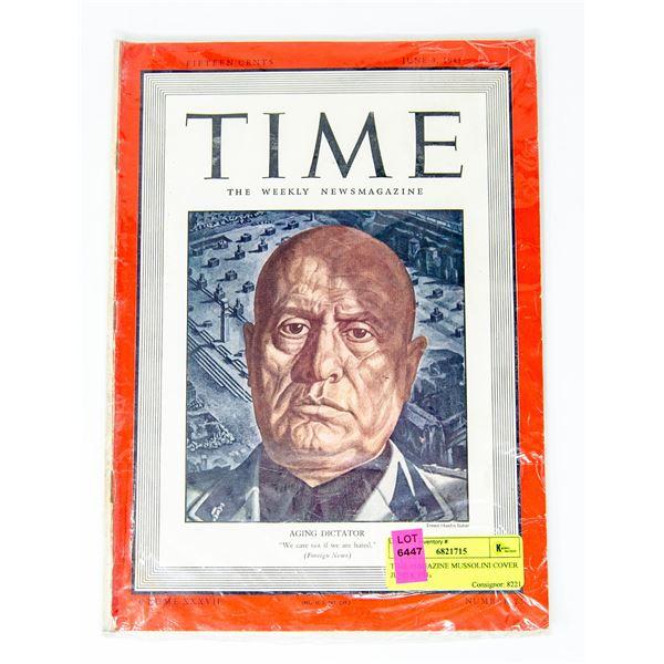 TIME MAGAZINE MUSSOLINI COVER JUNE 9, 1941