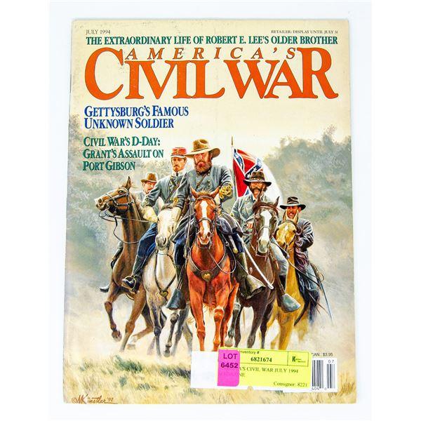 AMERICA'S CIVIL WAR JULY 1994 MAGAZINE